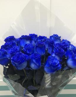 Bouquet of 25 blue roses | 25 flowers flowers