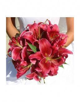 Bouquet of 25 red lilies | Flowers for Wedding flowers