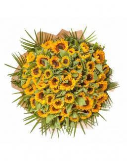 Bouquet of 51 sunflowers | Sunflowers flowers