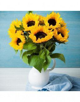 Mini-bouquet of sunflowers | 15 flowers flowers