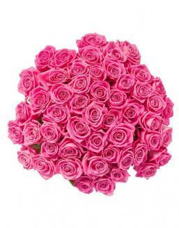 Bouquet of 51 pink roses | Flowers to girlfriend flowers