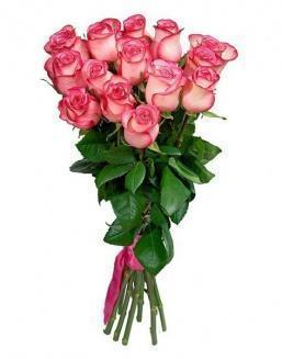 Bouquet of 15 pink roses | Flowers to women flowers