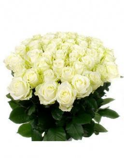 Bouquet of 51 white roses | Flowers for Wedding flowers