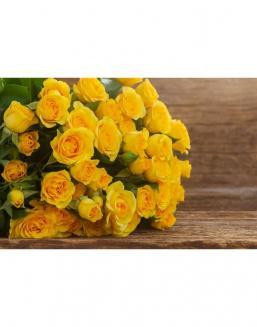 Bouquet of 51 yellow roses | Yellow flowers