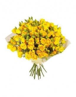 Bouquet of 51 yellow rose bushes | Yellow flowers