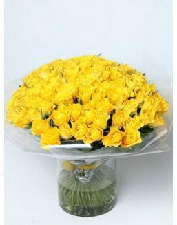 Bouquet of 101 yellow rose bushes | Yellow flowers