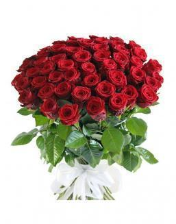 Bouquet of 51 red rose bushes | Flowers for Wedding flowers