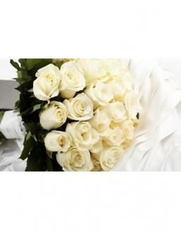 Bouquet of 15 white spray roses | 15 flowers flowers