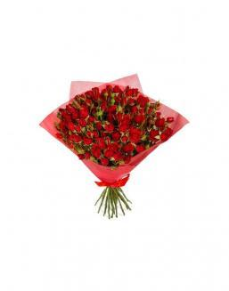 4Bouquet of 15 red spray roses | 15 flowers flowers
