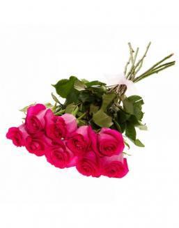Bouquet of 15 deep pink roses | 15 flowers flowers