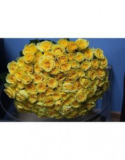Bouquet 101 yellow roses | Yellow flowers