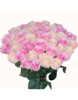 Bouquet of roses: pink and cream | Dutch roses flowers