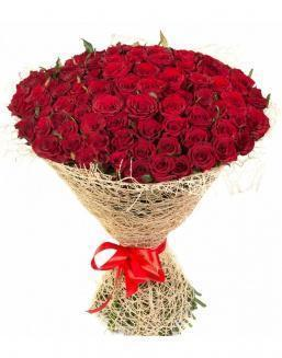 Bouquet of 101 red roses | Dutch roses flowers