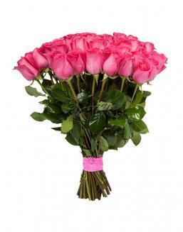 Bouquet of 15 pink Dutch roses | 15 flowers flowers