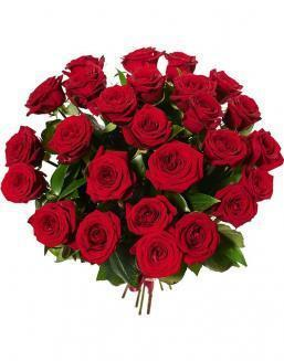 Bouquet of 25 red Dutch roses | 25 flowers flowers