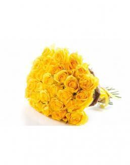 Bouquet of 29 yellow roses | 25 flowers