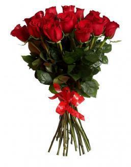 Bouquet of 15 red Dutch roses | 15 flowers flowers
