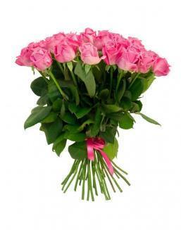 Bouquet of 25 pink holland roses | 25 flowers