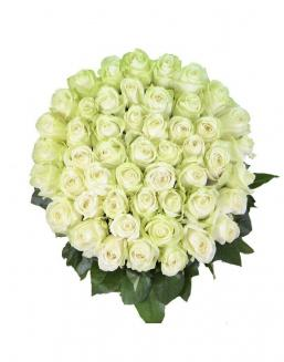 Bouquet 101 white roses | 101 flowers flowers