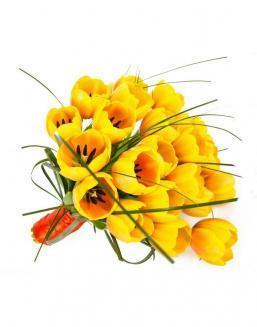 Bouquet of 25 yellow tulips | 25 flowers