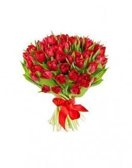 Bouquet of 51 red tulips | Flowers to women flowers