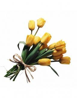 Bouquet of 15 yellow tulips | Yellow flowers