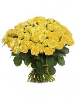 Bouquet of 101 yellow holland roses | Dutch roses flowers