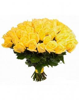 Bouquet of 51 yellow roses | Dutch roses flowers