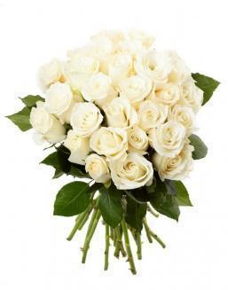 Bouquet of 33 white roses | Dutch roses flowers