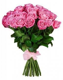 33 high elite pink roses | Dutch roses flowers