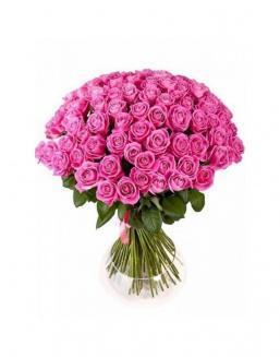 77 high elite pink roses | Flowers for Wedding flowers