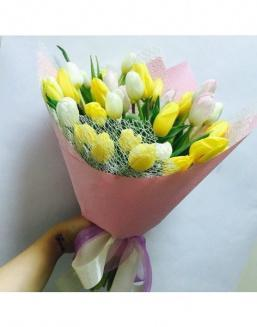 Solar mix a bouquet of 31 tulips | Flowers to women flowers