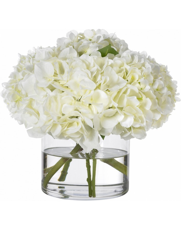Bouquet of 51 white hydrangeas